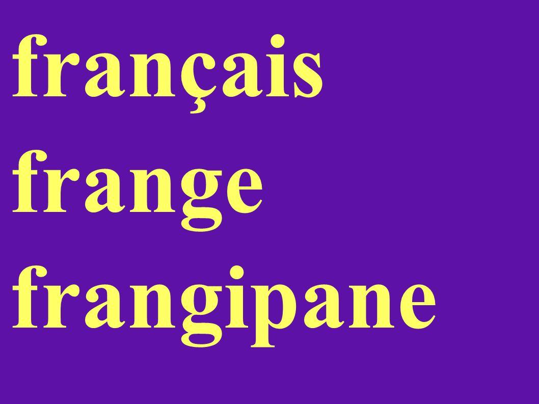 français frange frangipane