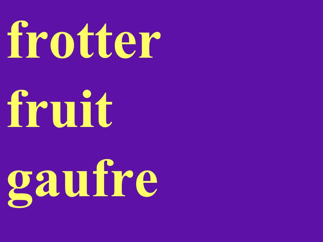 frotter fruit gaufre