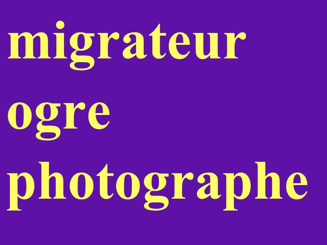 migrateur ogre photographe