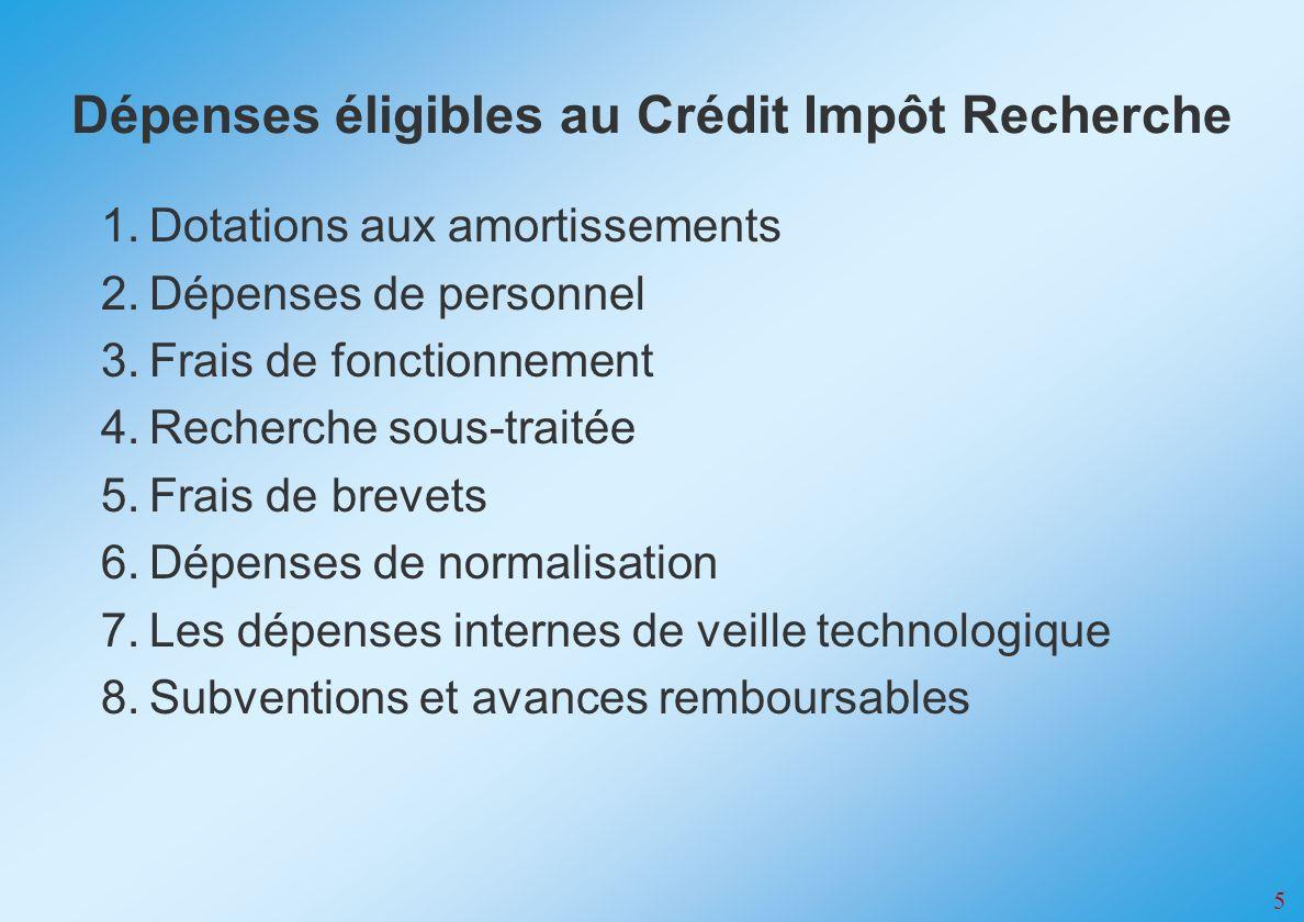 6 Les dépenses à retenir sont : - les salaires, - avantages en nature, - primes - cotisations sociales obligatoires.