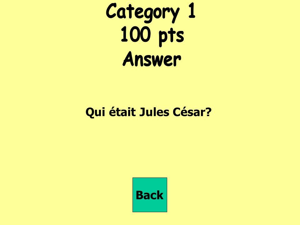 Qui était Jules César Back