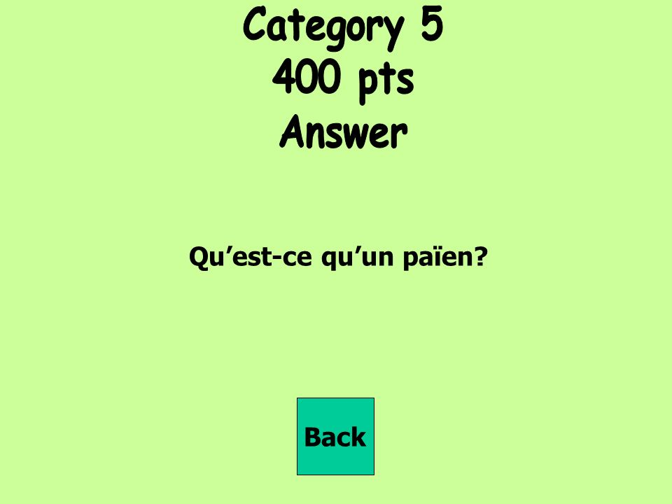 Quest-ce quun païen Back