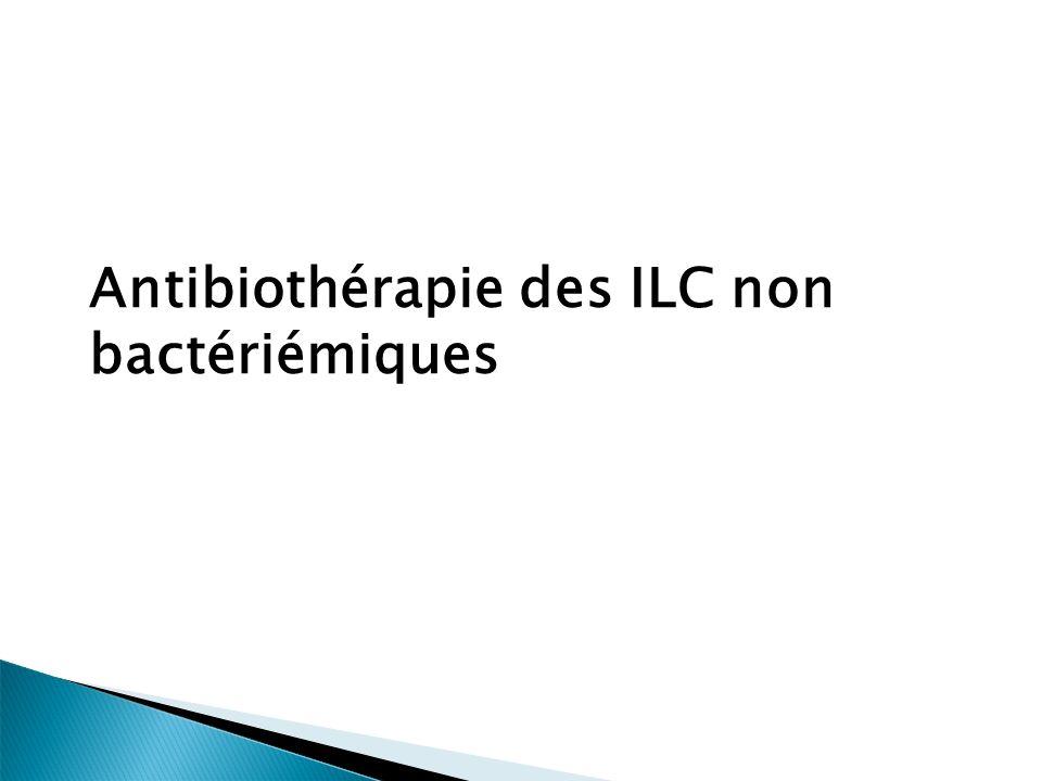 Antibiothérapie des ILC non bactériémiques