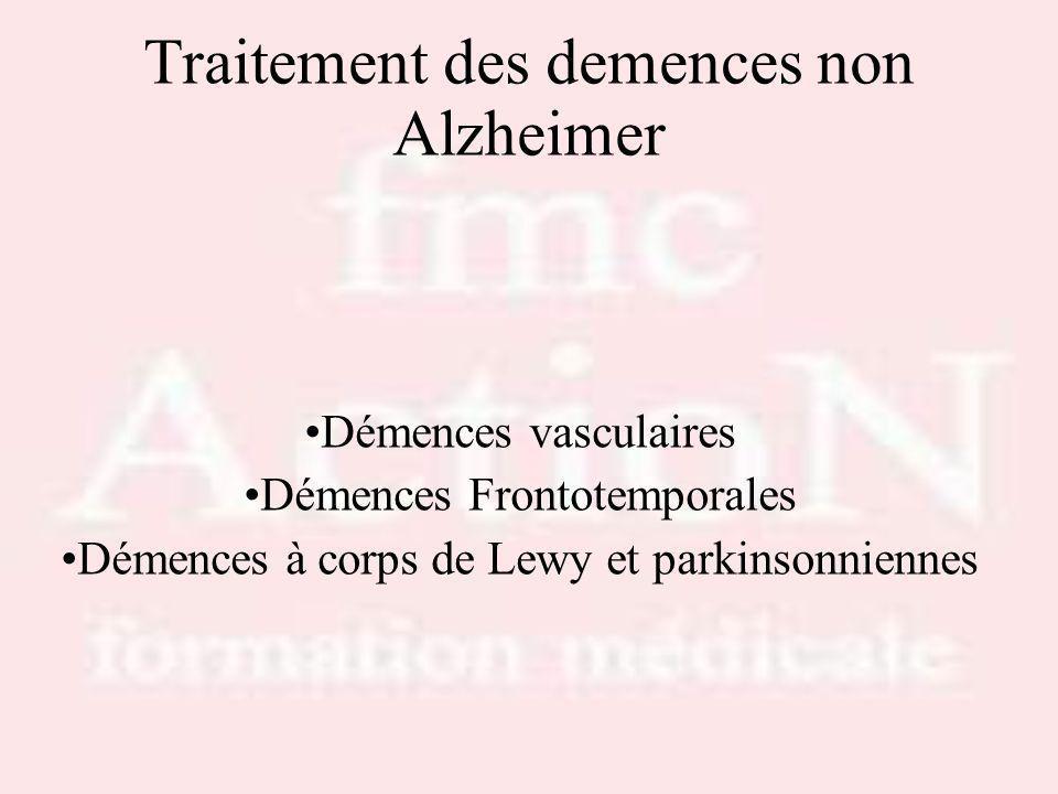 Traitement des demences non Alzheimer Démences vasculaires Démences Frontotemporales Démences à corps de Lewy et parkinsonniennes