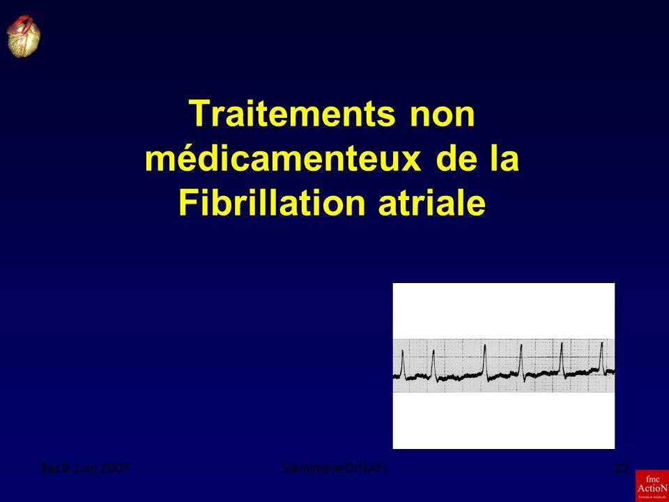 8et 9 Juin 2007Séminaire DINAN22 Traitements non médicamenteux de la Fibrillation atriale