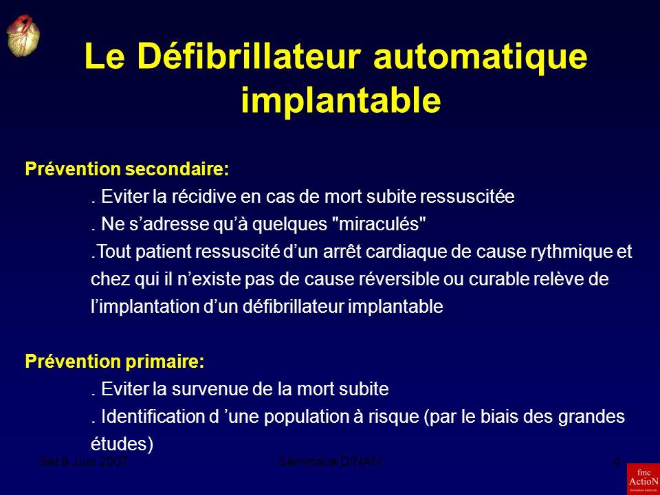 8et 9 Juin 2007Séminaire DINAN25 Fibrillation auriculaire SNA SubstratGâchette veines pulmonairesanomalie génétique remodelage atrial Triangle de COUMEL