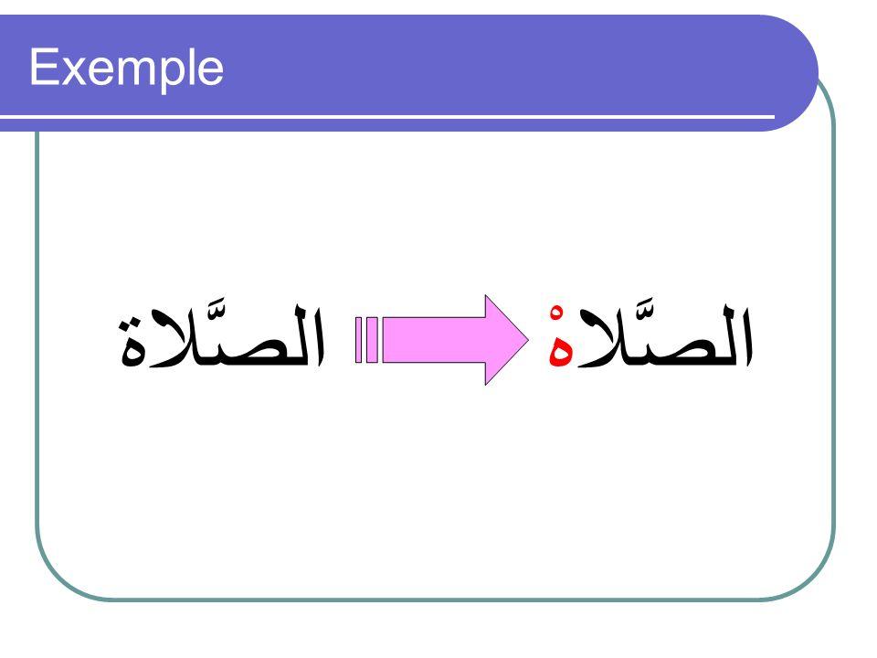 Devant une T finale sarrêter en prononçant un هْ au lieu du ة.