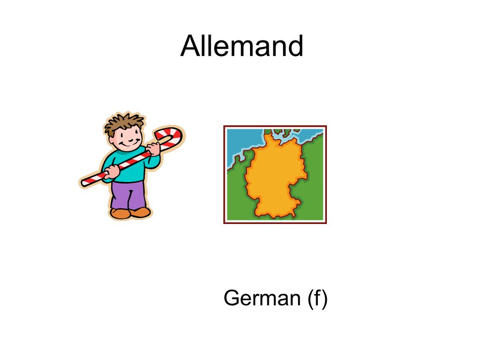 Allemand German (f)