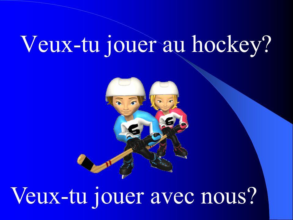 Veux-tu jouer au hockey? Veux-tu jouer avec nous?