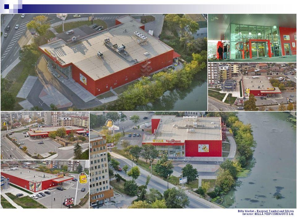 Billa Market – Razgrad, Yambol and Silistra Investor: BILLA NEDVISHIMOSTI Ltd.