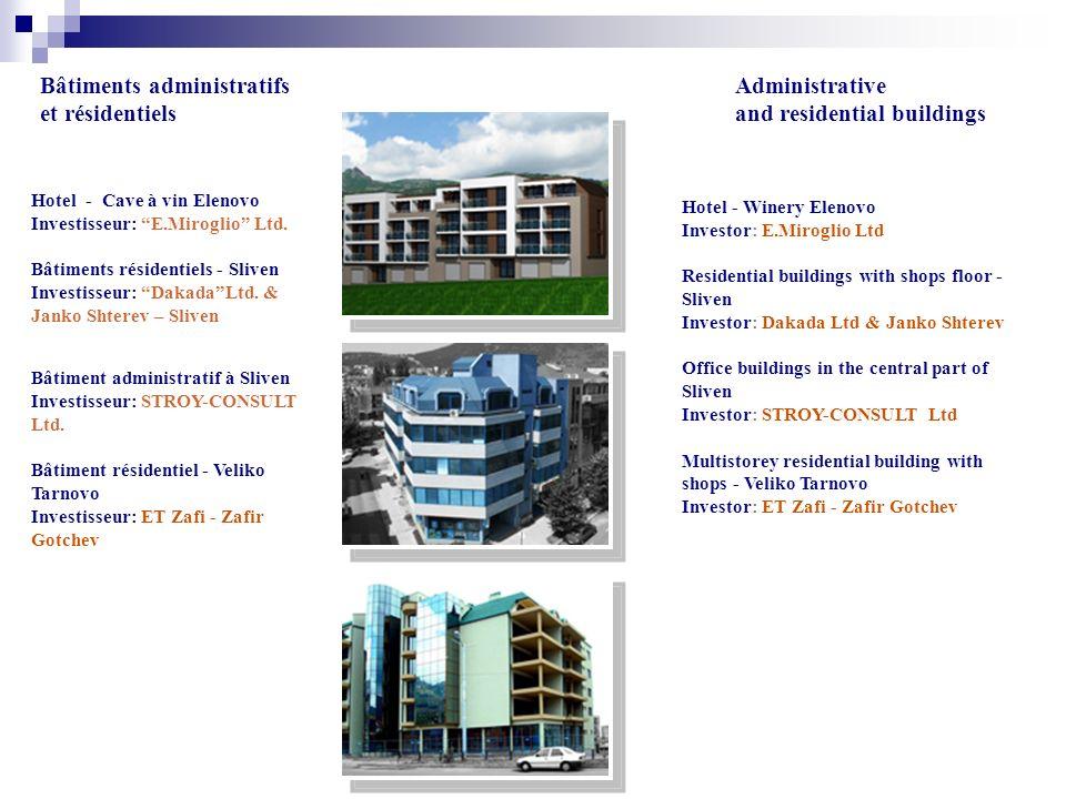 Bâtiments administratifs et résidentiels Hotel - Cave à vin Elenovo Investisseur: E.Miroglio Ltd.