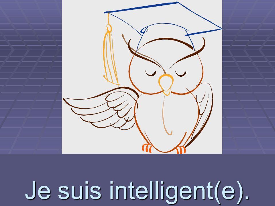 intelligent(e) Je suis intelligent(e).
