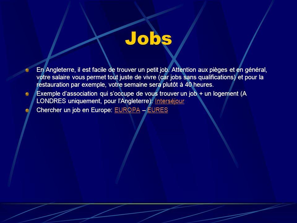 Jobs En Angleterre, il est facile de trouver un petit job.