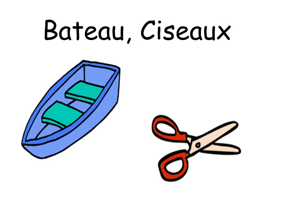 Bateau, Ciseaux