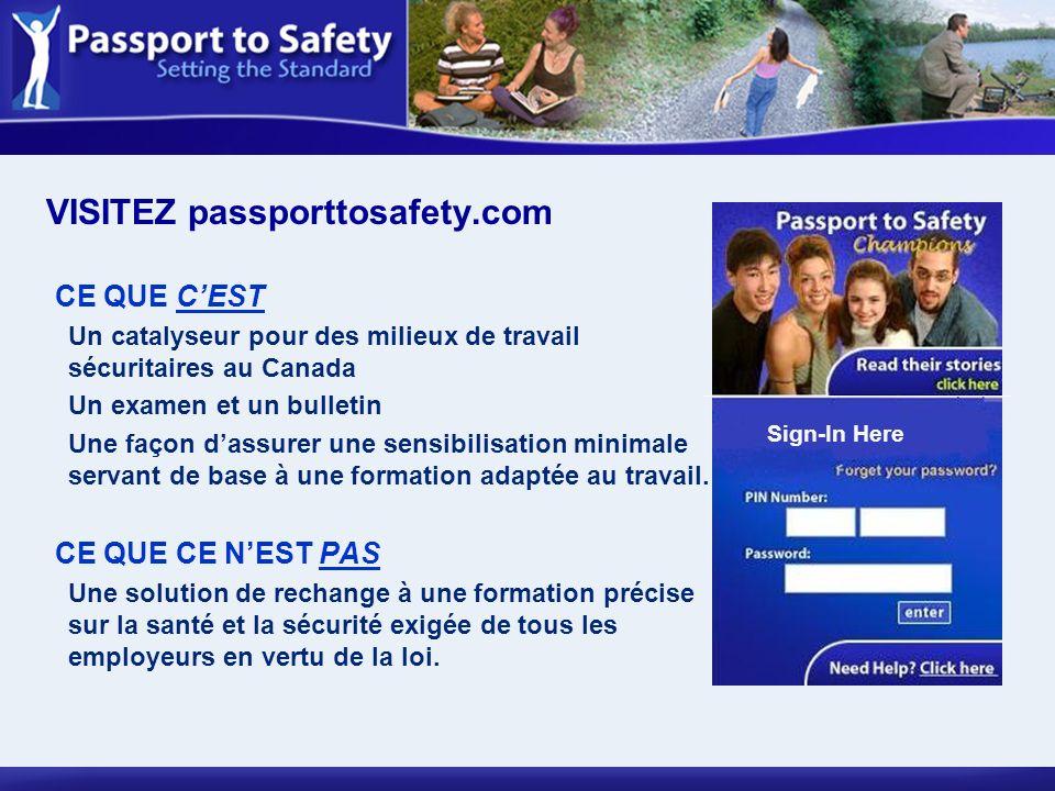 CE QUE CEST Un catalyseur pour des milieux de travail sécuritaires au Canada Un examen et un bulletin Une façon dassurer une sensibilisation minimale