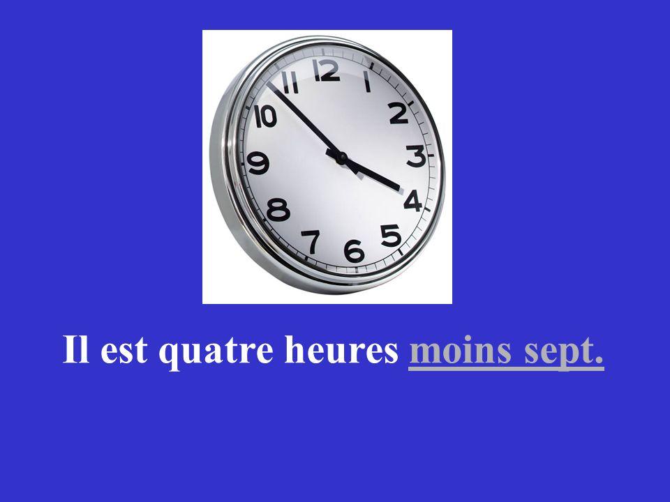 Comment dit-on en français Minutes to ?