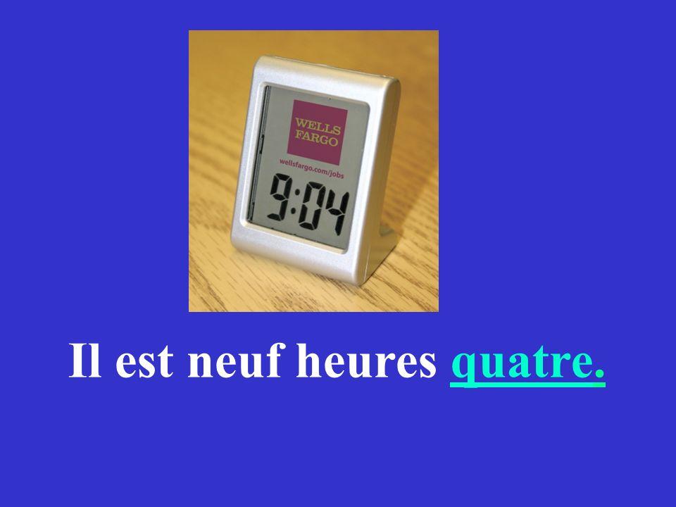 Comment dit-on en français Minutes past ?