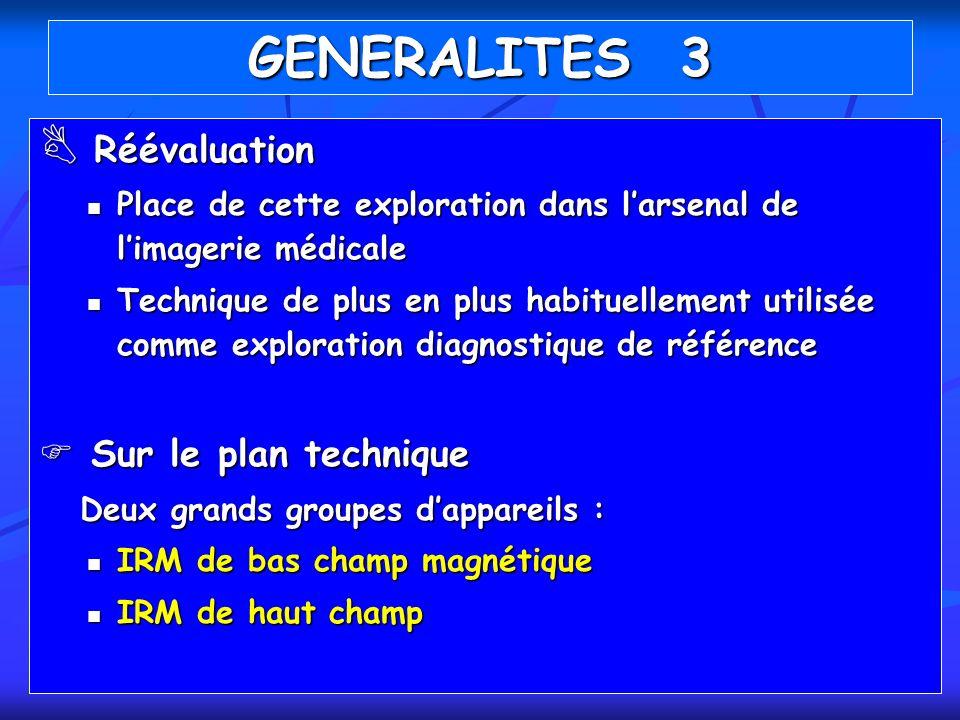 Réévaluation Réévaluation Place de cette exploration dans larsenal de limagerie médicale Place de cette exploration dans larsenal de limagerie médical