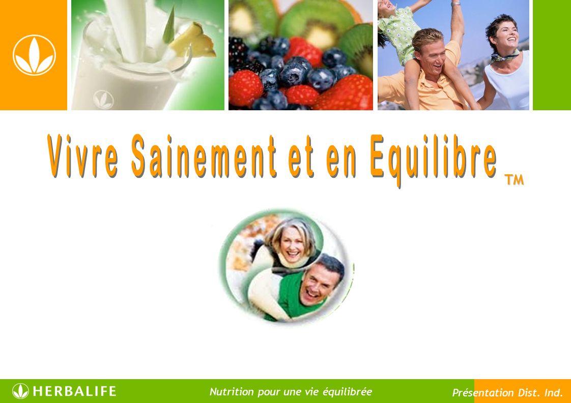 TM Nutrition pour une vie équilibrée Présentation Dist. Ind.