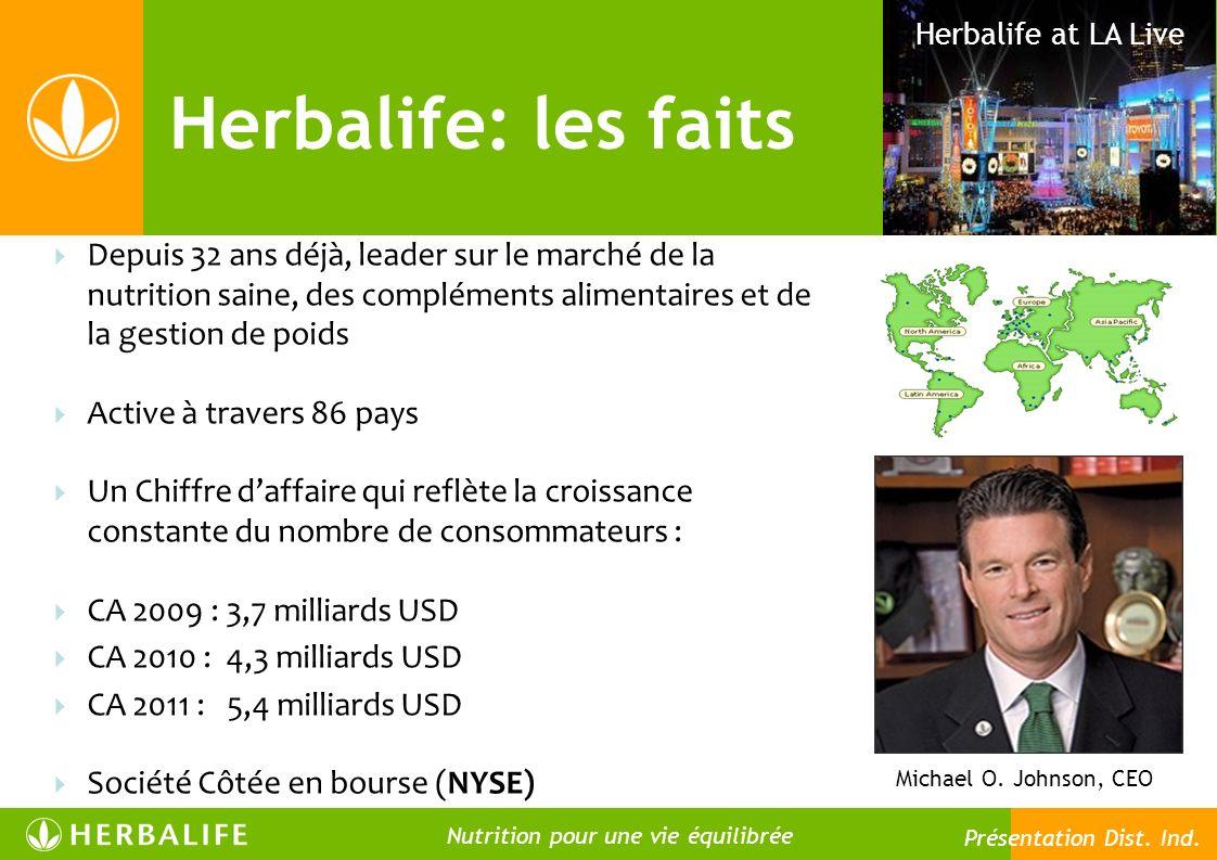 Herbalife: les faits Herbalife at LA Live Michael O. Johnson, CEO 13 Depuis 32 ans déjà, leader sur le marché de la nutrition saine, des compléments a