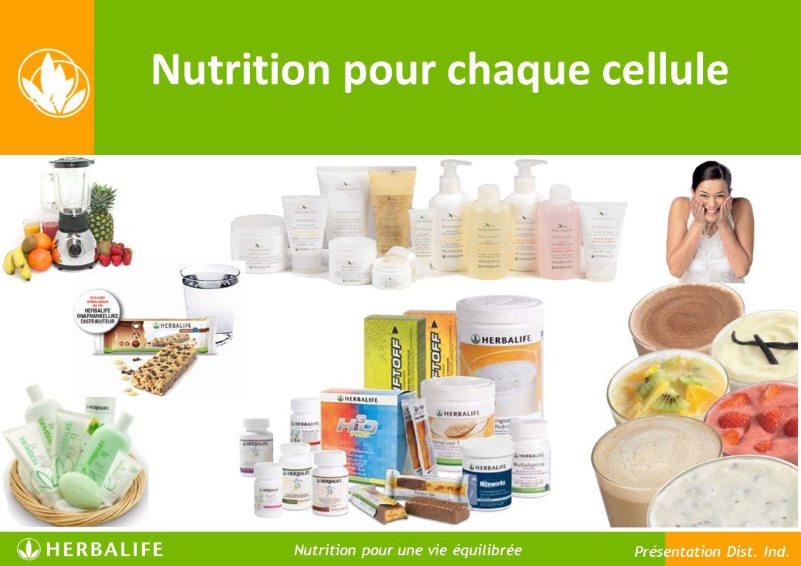 Nutrition pour chaque cellule Nutrition pour une vie meilleure Nutrition pour une vie équilibrée Présentation Dist. Ind.