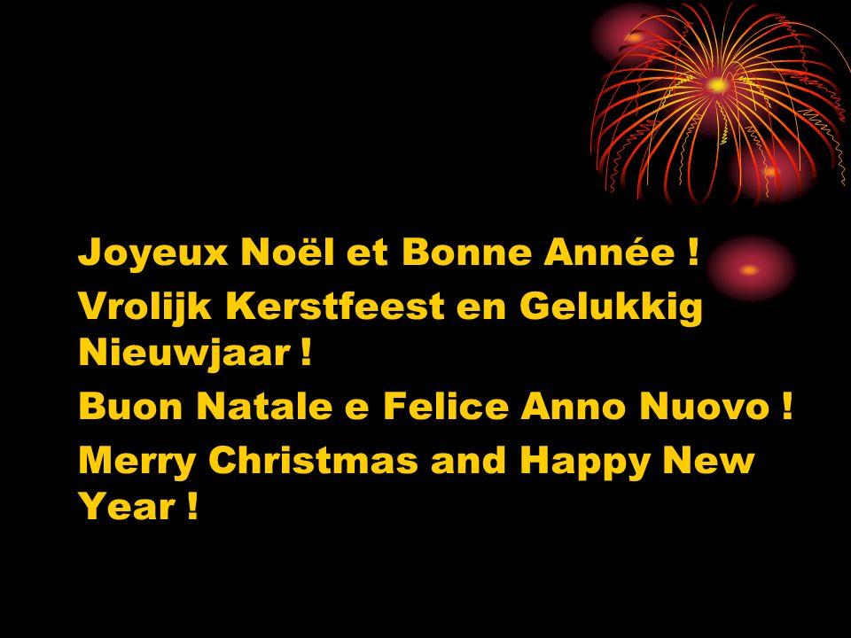 Joyeux Noël et Bonne Année ! Vrolijk Kerstfeest en Gelukkig Nieuwjaar ! Buon Natale e Felice Anno Nuovo ! Merry Christmas and Happy New Year !