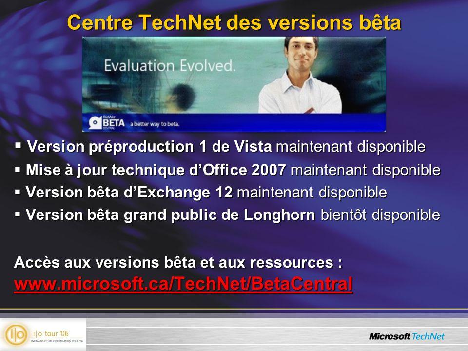 Version préproduction 1 de Vista maintenant disponible Version préproduction 1 de Vista maintenant disponible Mise à jour technique dOffice 2007 maint