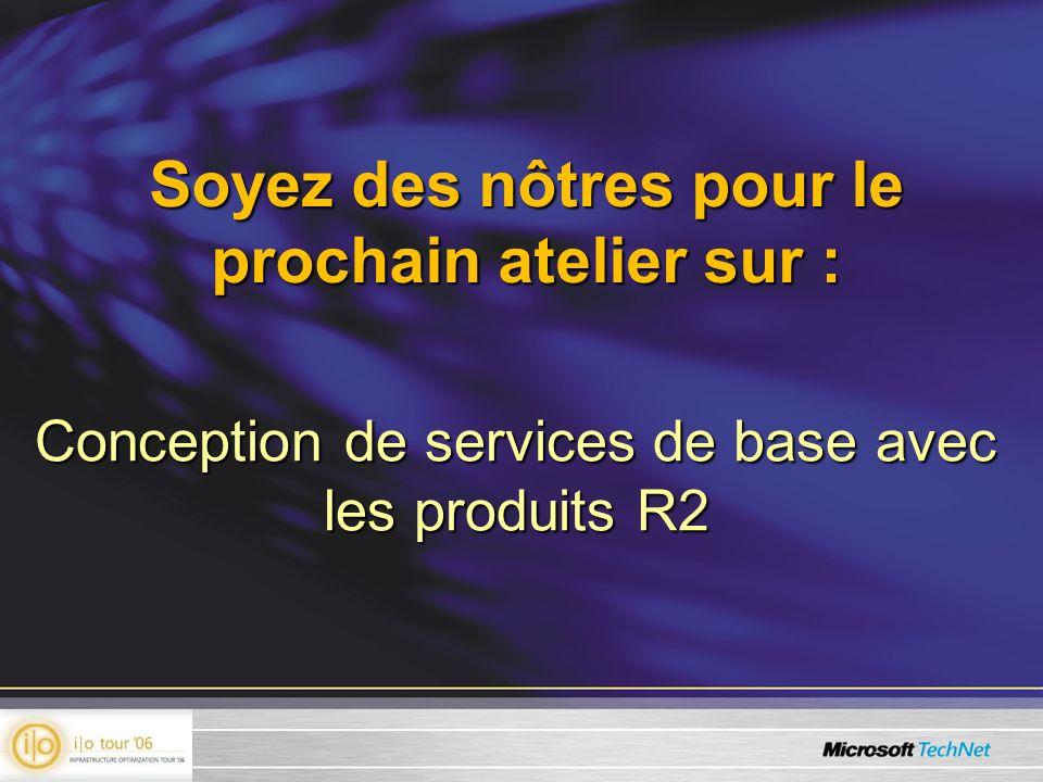 Soyez des nôtres pour le prochain atelier sur : Conception de services de base avec les produits R2