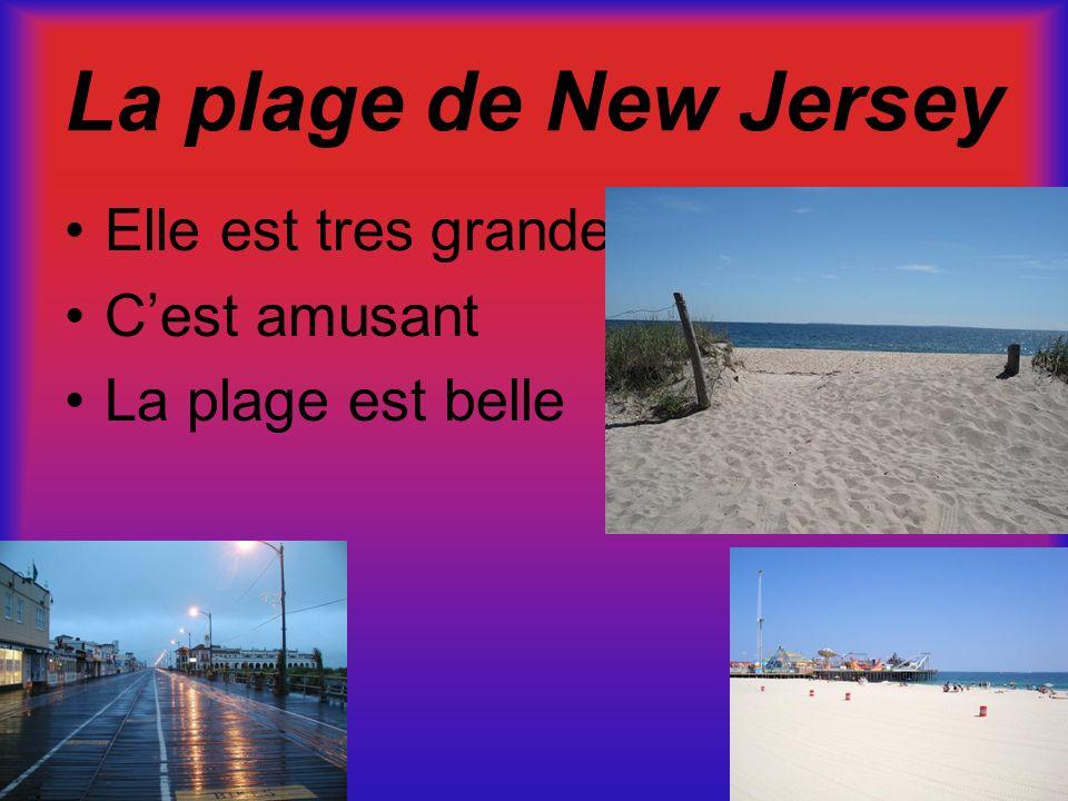 La plage de New Jersey Elle est tres grande Cest amusant La plage est belle
