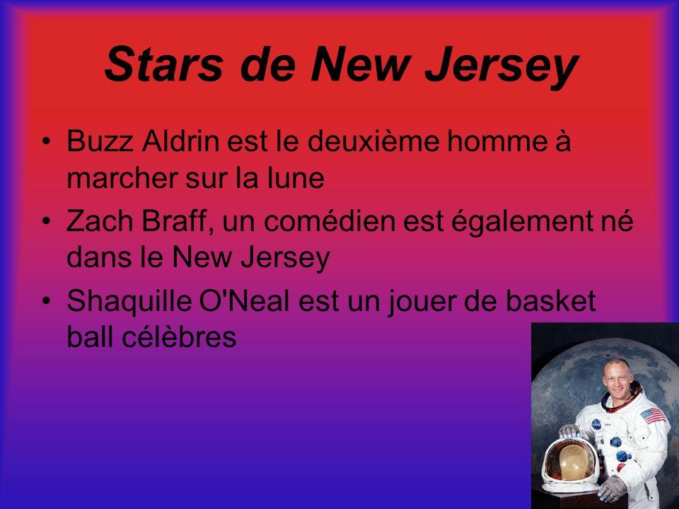 Stars de New Jersey Buzz Aldrin est le deuxième homme à marcher sur la lune Zach Braff, un comédien est également né dans le New Jersey Shaquille O'Ne