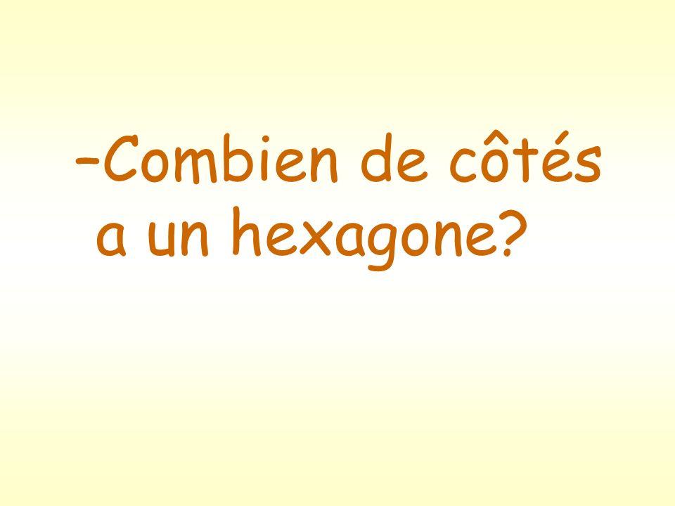 –Combien de côtés a un hexagone?