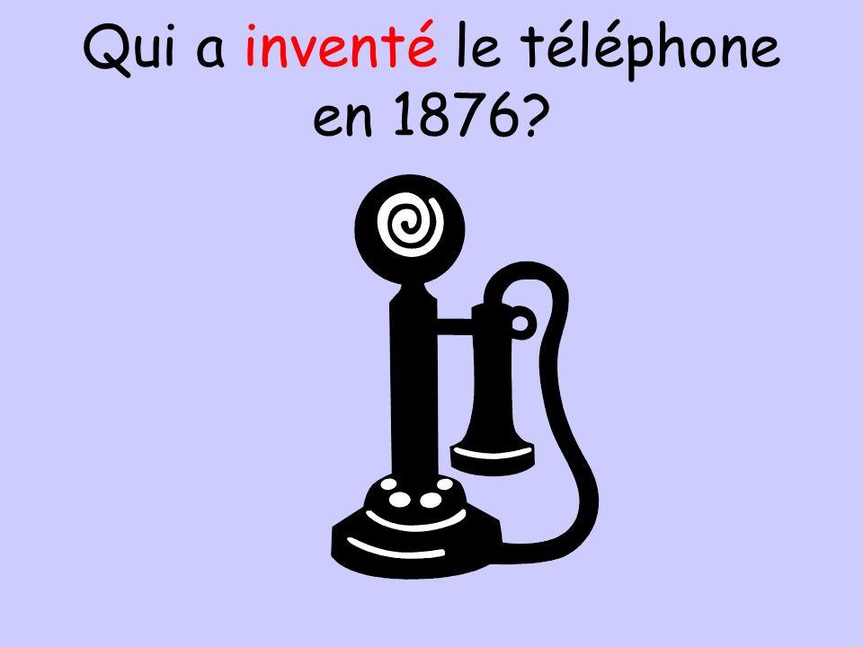Qui a inventé le téléphone en 1876?