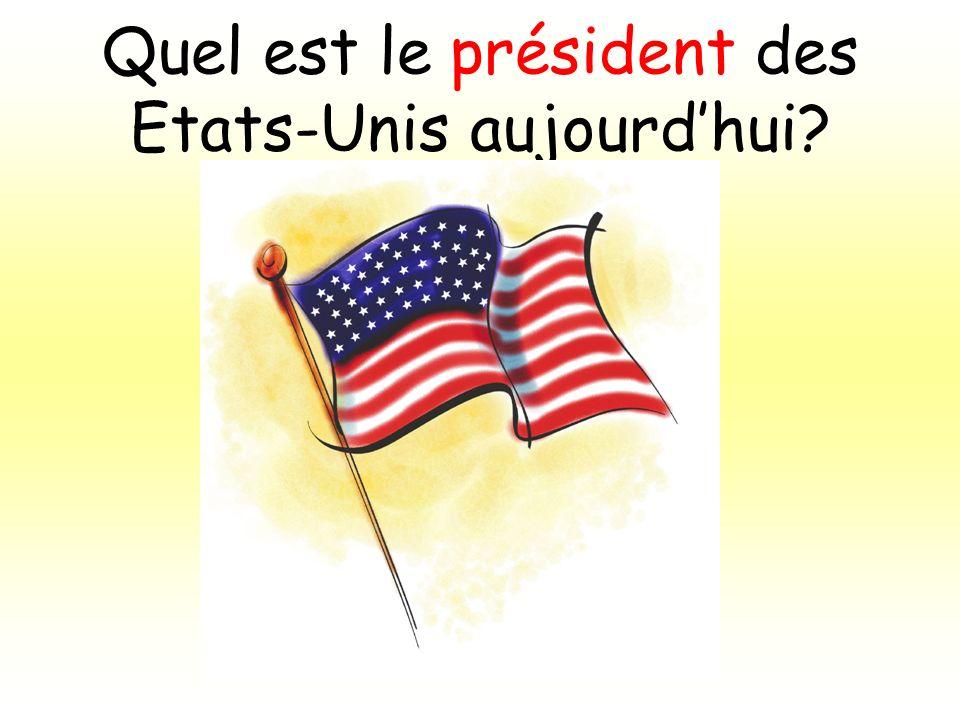 Quel est le président des Etats-Unis aujourdhui?