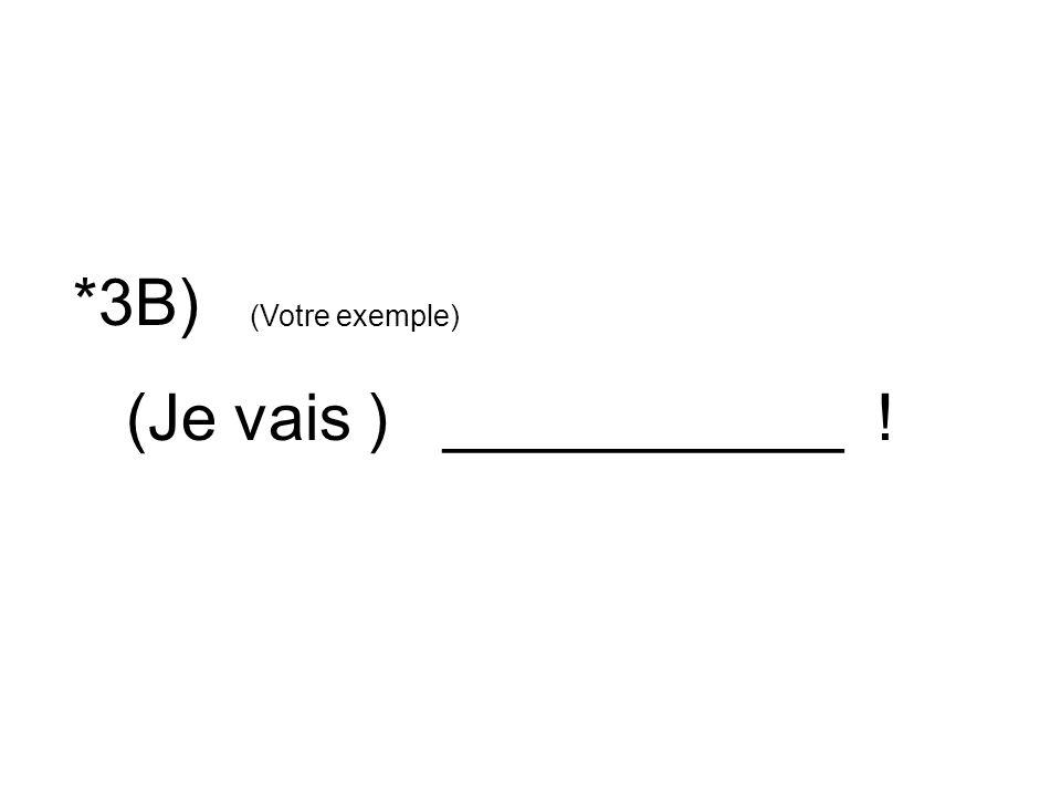 *3B) (Je vais ) ___________ ! (Votre exemple)