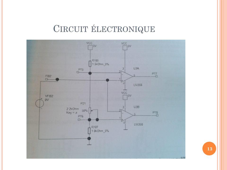 C IRCUIT ÉLECTRONIQUE 13
