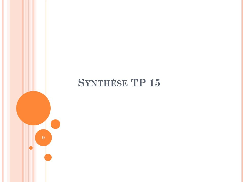 S YNTHÈSE TP 15 9