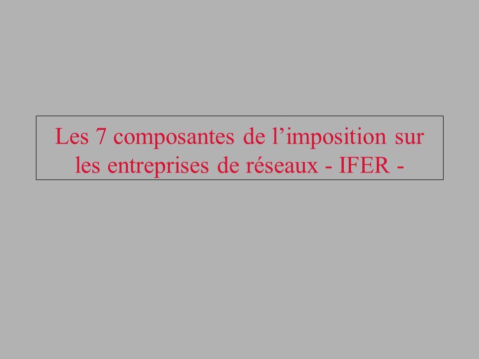 Les 7 composantes de limposition sur les entreprises de réseaux - IFER -