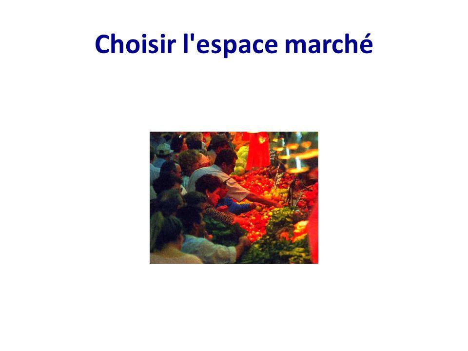Choisir l'espace marché