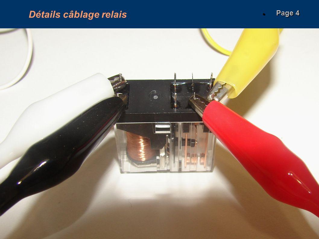 Détails câblage relais Page 4 Page 4