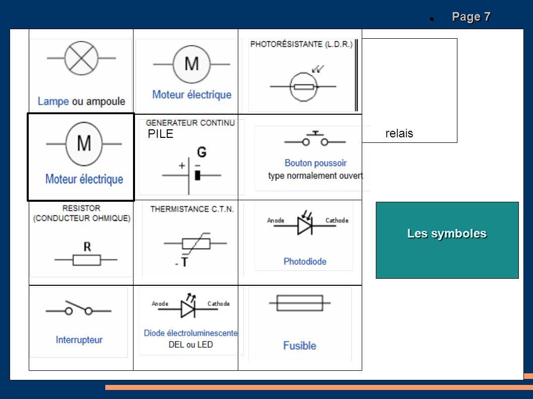 relais Les symboles Page 7 Page 7 PILE