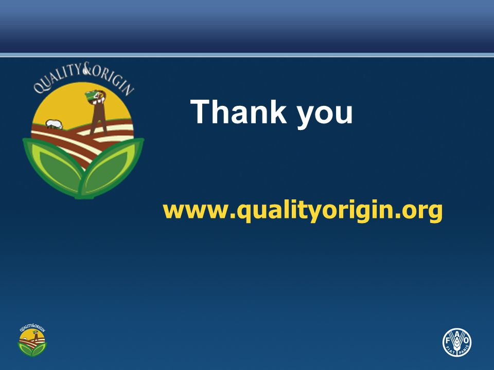 www.qualityorigin.org Thank you