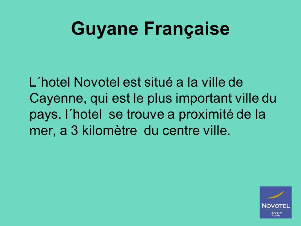 L´hotel Novotel est situé a la ville de Cayenne, qui est le plus important ville du pays. l´hotel se trouve a proximité de la mer, a 3 kilomètre du ce