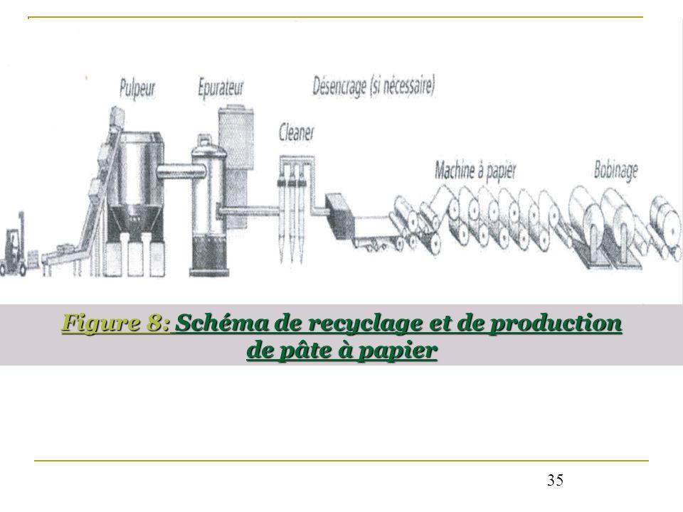 Figure 8: Schéma de recyclage et de production de pâte à papier 35