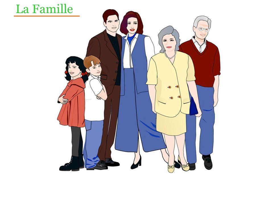 Le père La fille Le grand-père La grand-mère La mère Le fils La Famille