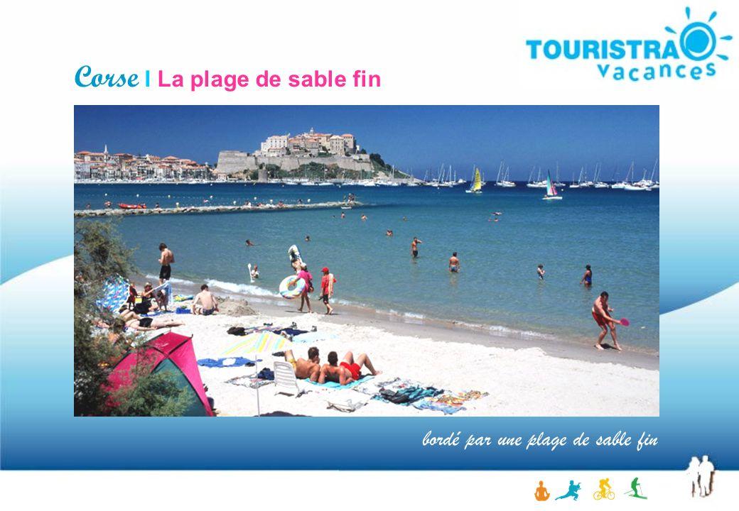 Corse I La plage de sable fin bordé par une plage de sable fin