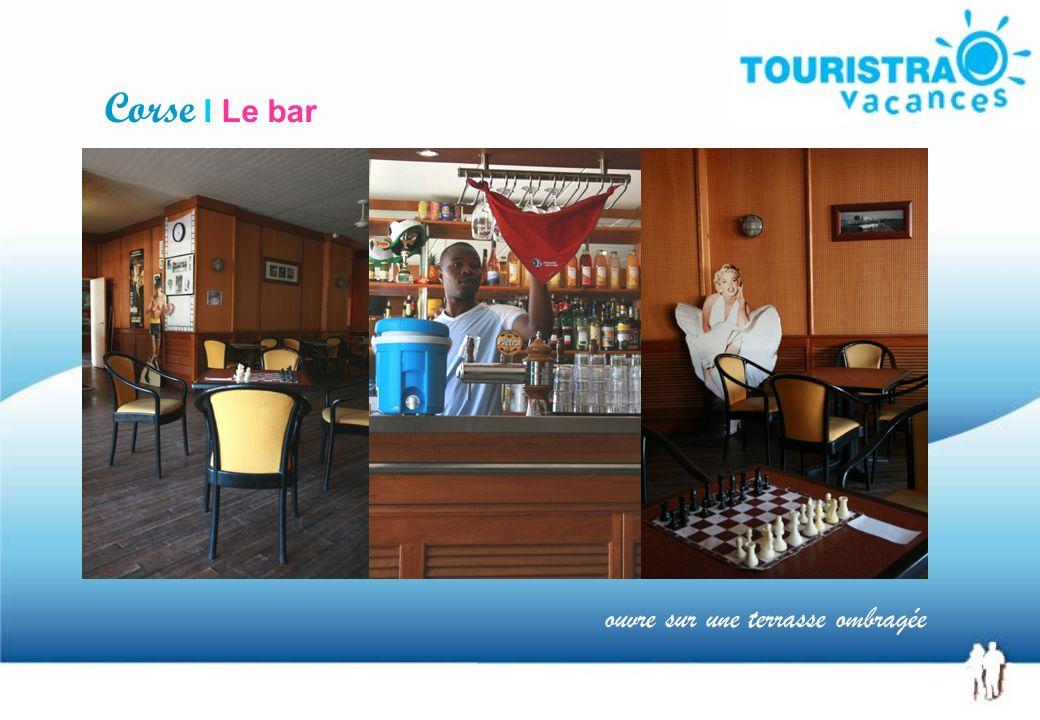 Corse I Le bar ouvre sur une terrasse ombragée