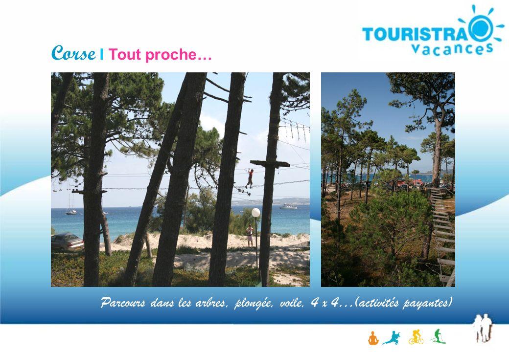 Corse I Tout proche… Parcours dans les arbres, plongée, voile, 4 x 4…(activités payantes)