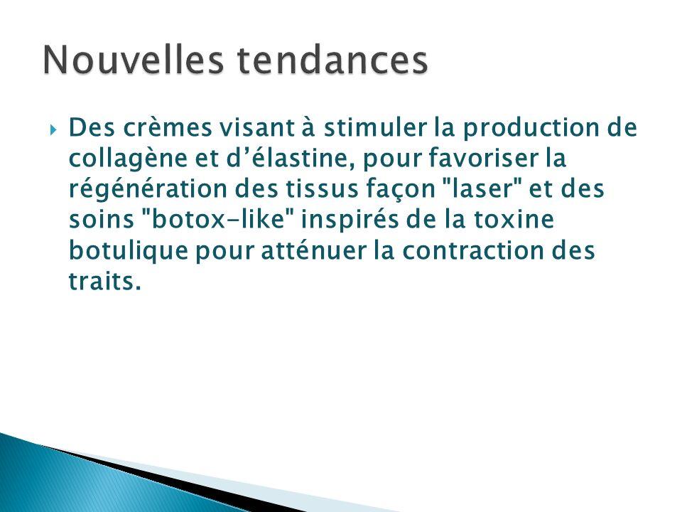 Des crèmes visant à stimuler la production de collagène et délastine, pour favoriser la régénération des tissus façon