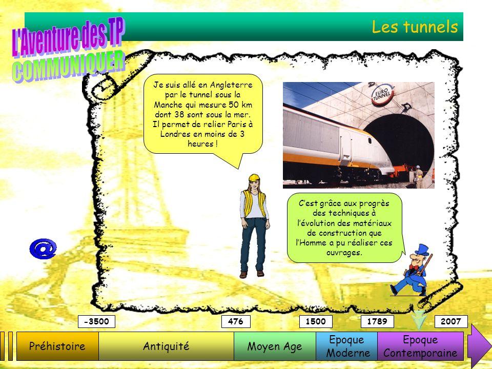 Les tunnels PréhistoireAntiquitéMoyen Age Epoque Moderne Epoque Contemporaine -3500476150017892007 Je suis allé en Angleterre par le tunnel sous la Ma