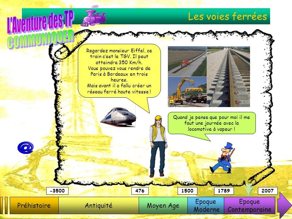Les voies ferrées PréhistoireAntiquitéMoyen Age Epoque Moderne Epoque Contemporaine -3500476150017892007 Regardez monsieur Eiffel, ce train cest le TG